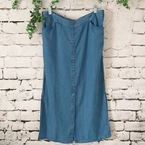 NWT J. Jill Denim Long Skirt M